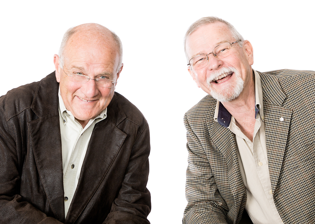 Vanier executive emeriti Alan Mirabelli, retired Executive Director of Administration (1975–2007), and Dr. Robert Glossop, retired Executive Director of Research and Programs (1975–2006), at the Vanier Institute of the Family
